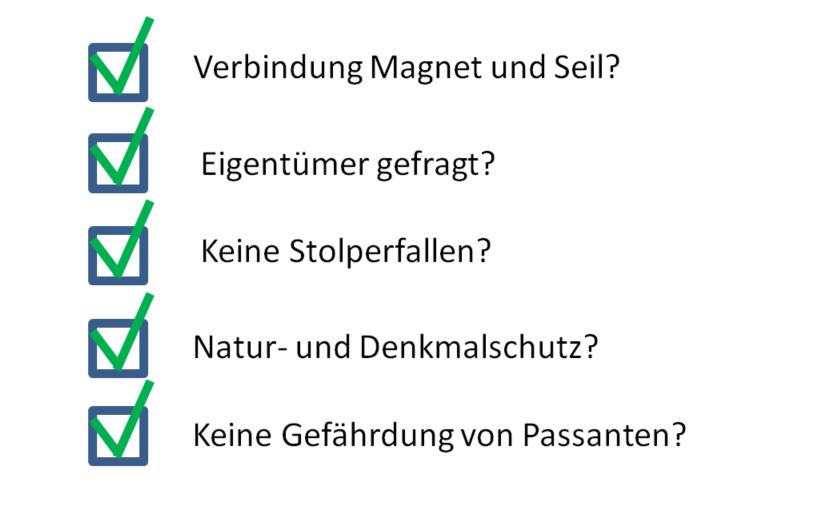 Checkliste beim Magnetangeln