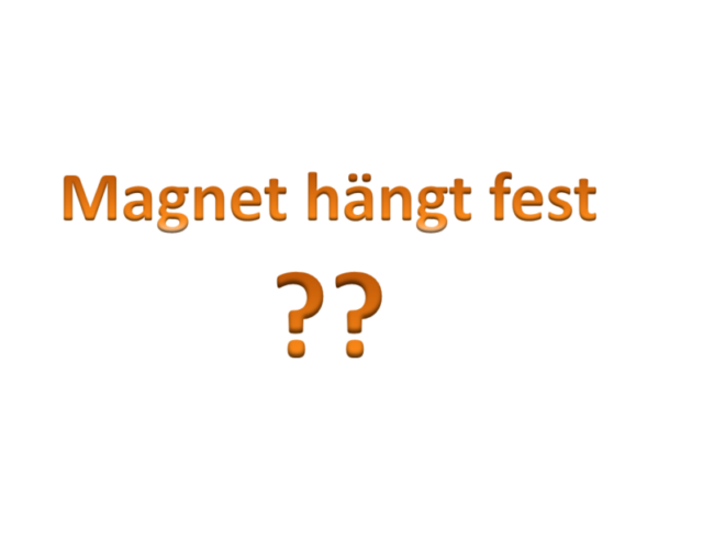 Magnetangel hängt fest: Was kann man tun?